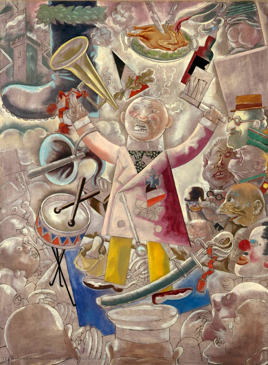 | The Agitator by George Grosz | Most-Famous-Paintings.com
