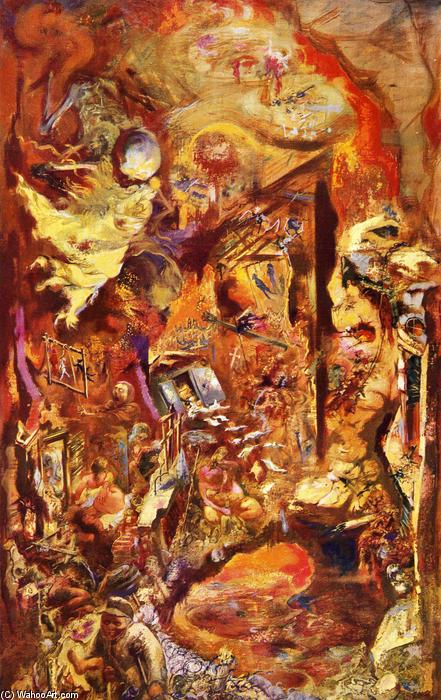 | The Pit by George Grosz | Most-Famous-Paintings.com