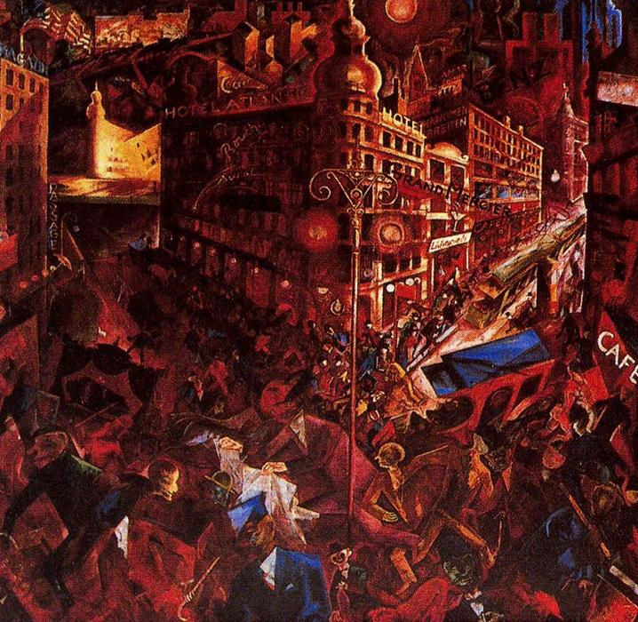 | The City by George Grosz | Most-Famous-Paintings.com