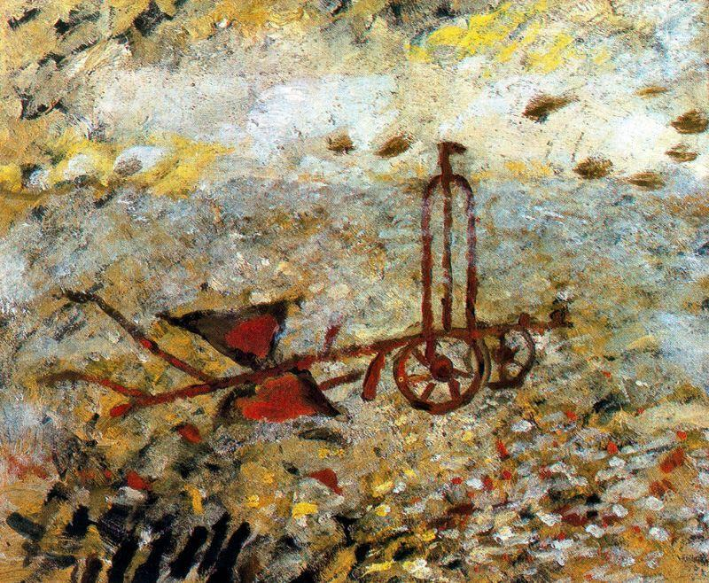 famous painting The Metallic Plow of Georges Braque