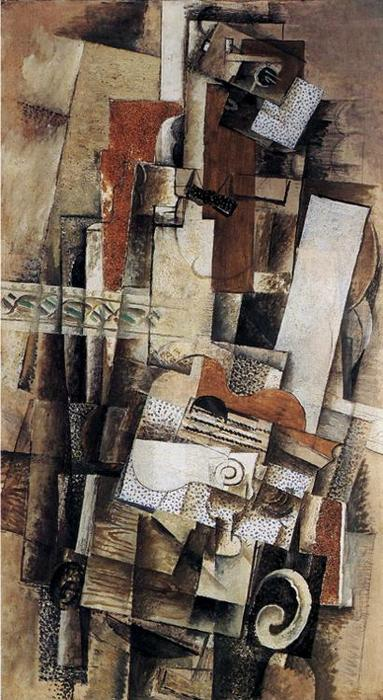 | Man with a Guitar by Georges Braque | Most-Famous-Paintings.com