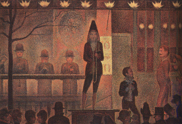 Buy Museum Art Reproductions | Circus Sideshow by Georges Pierre Seurat | Most-Famous-Paintings.com