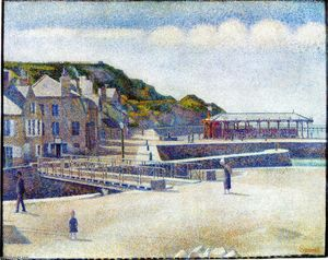 Georges Pierre Seurat - The Harbour and the Quays at Port-en-Bessin