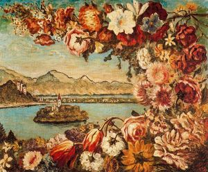 Giorgio De Chirico - Island and flower garland