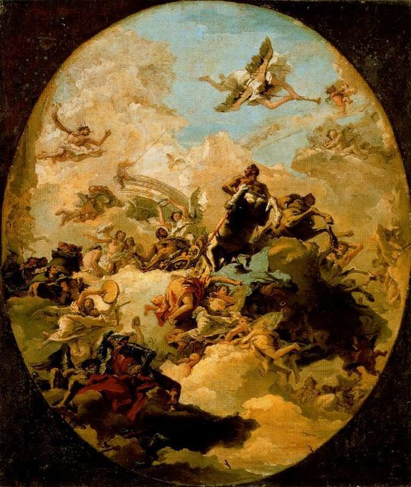 famous painting Apotheosis of Hercules of Giovanni Domenico Tiepolo