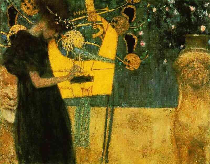 famous painting Music of Gustav Klimt