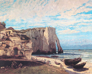 Gustave Courbet - The Cliffs at Etretat after the storm