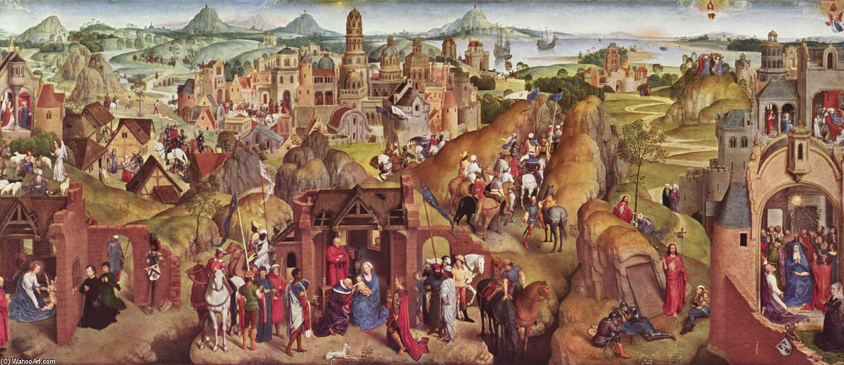 famous painting Scenes from the life of Mary of Hans Memling
