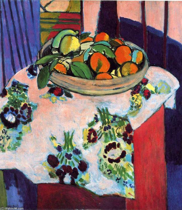 | Basket with Oranges by Henri Matisse | Most-Famous-Paintings.com