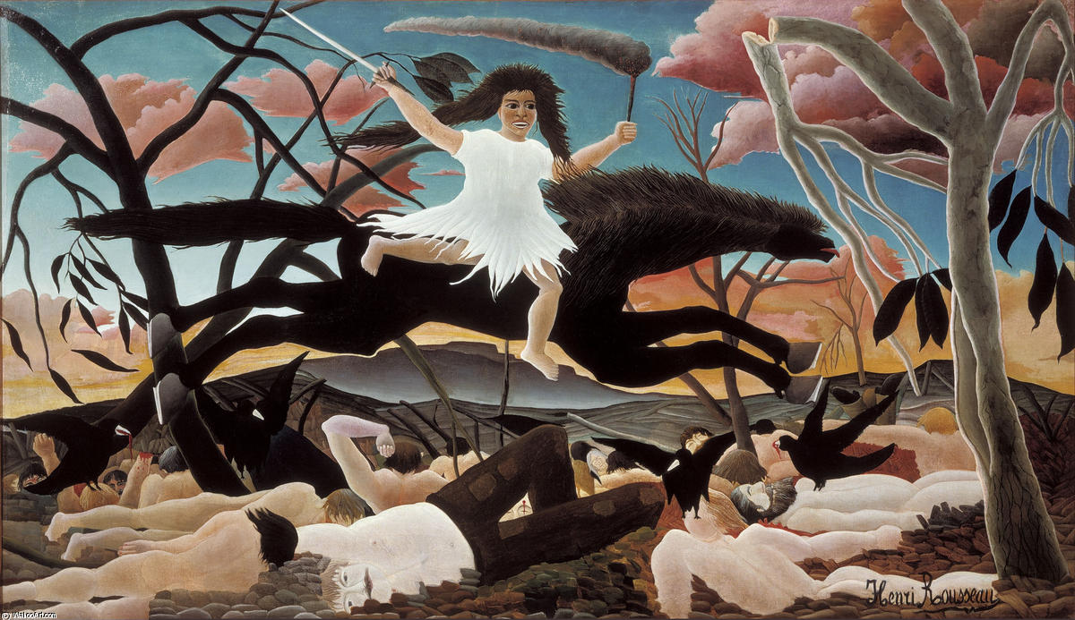 famous painting War or the Ride of Discord of Henri Emilien Rousseau