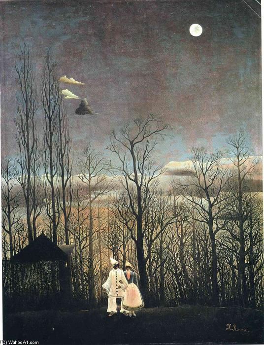 Order Art Reproductions | Carnival Evening by Henri Julien Félix Rousseau (Le Douanier) | Most-Famous-Paintings.com