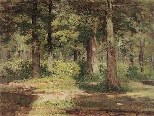 Isaak Ilyich Levitan - Forest. Sunny Day.