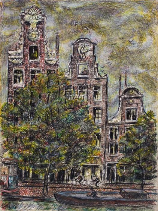 View from Hotel Window, Prinsenstraat Amsterdam, Holland by Ivan