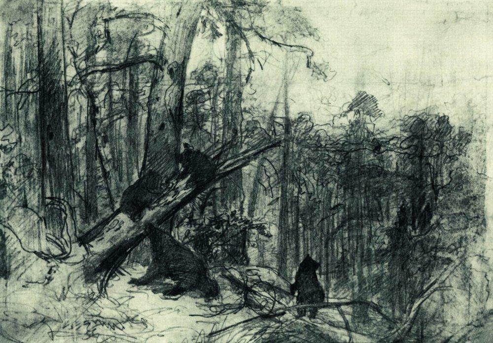 famous painting Morning in a Pine Forest of Ivan Ivanovich Shishkin