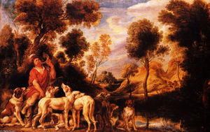Jacob Jordaens - Hunter with his dogs