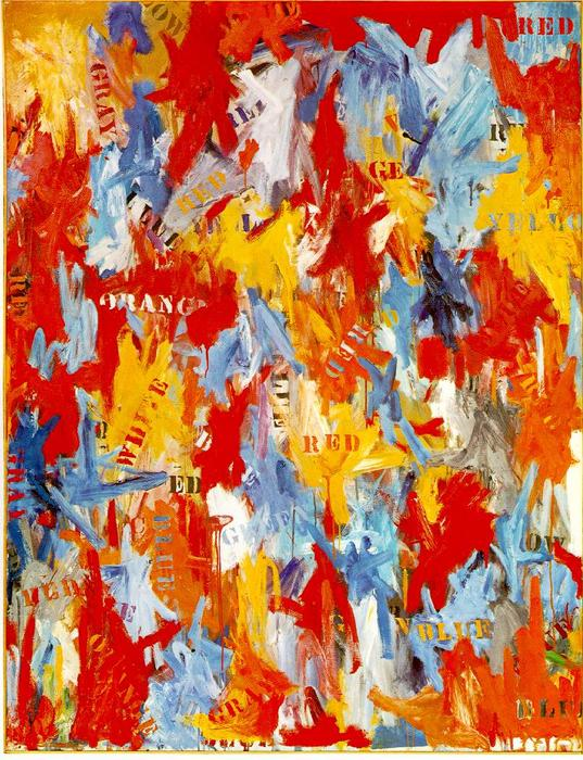 famous painting False Start of Jasper Johns