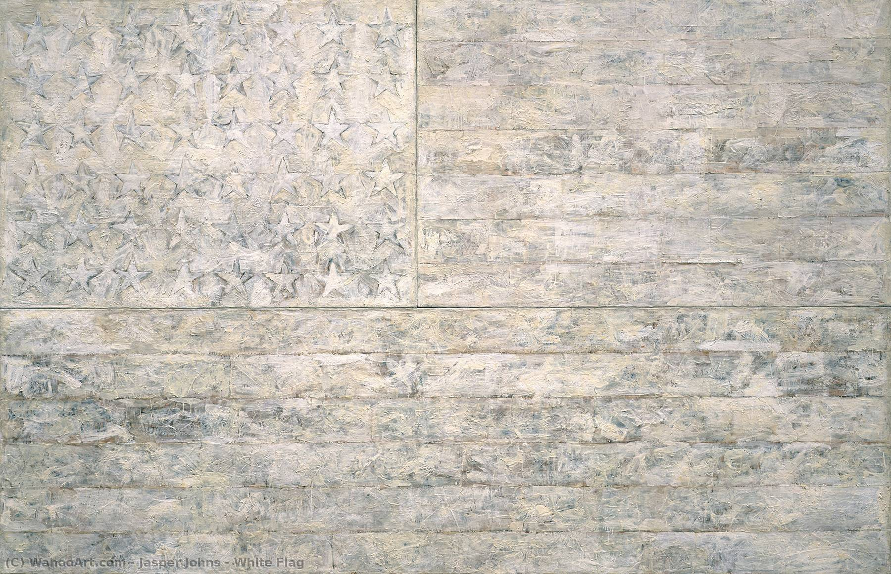 famous painting White Flag of Jasper Johns