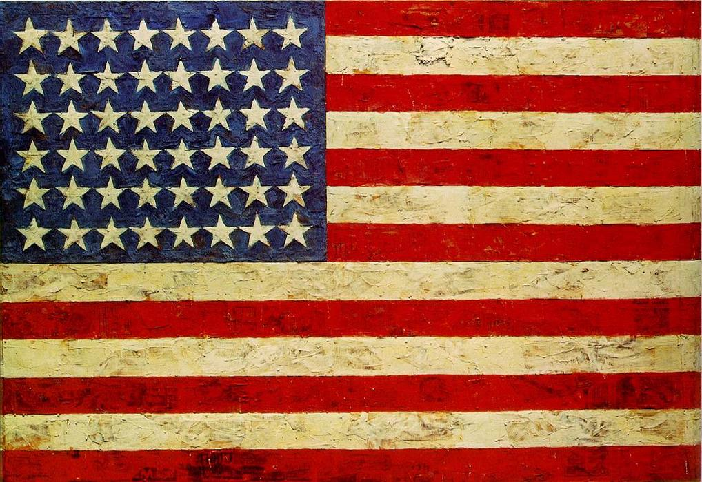| Flag by Jasper Johns | Most-Famous-Paintings.com