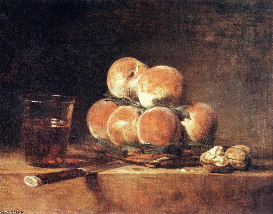famous painting Basket of Peaches of Jean-Baptiste Simeon Chardin
