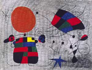 Joan Miro - The Smile of the Flamboyant Wings
