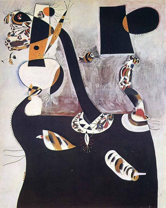 Order Reproductions | Seated Woman II by Joan Miro | Most-Famous-Paintings.com