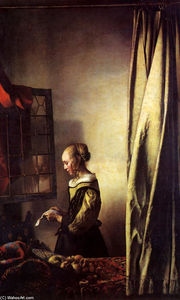 Jan Vermeer - Girl Reading a Letter at an Open Window