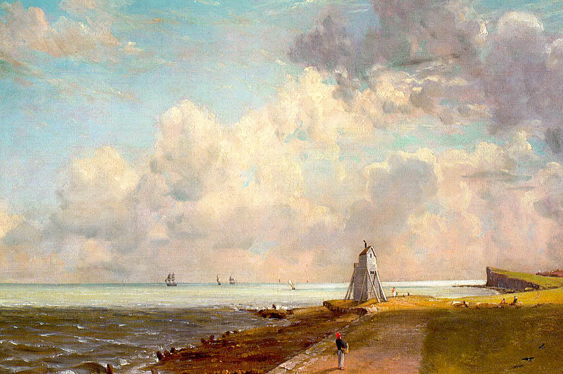 Famous Painting The Low Lighthouse And Beacon Hill Of John Constable