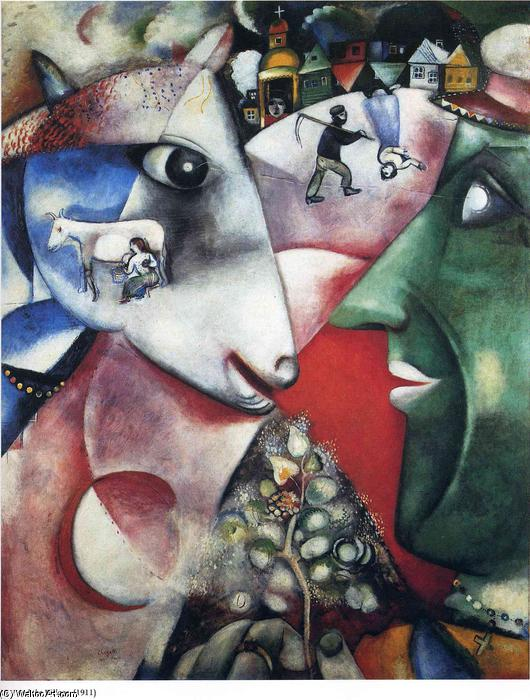 | I and the Village by Marc Chagall | Most-Famous-Paintings.com