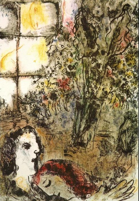 famous painting The Summer Evening of Marc Chagall