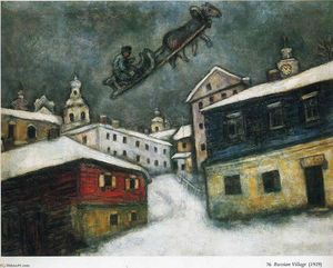 Marc Chagall - Russian village