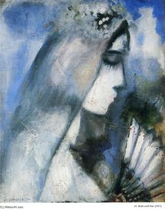 Marc Chagall - Bride with a Fan