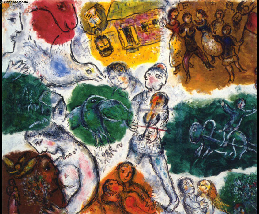 | Composition by Marc Chagall | Most-Famous-Paintings.com