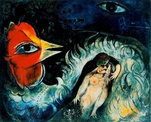 Marc Chagall - The rooster in love