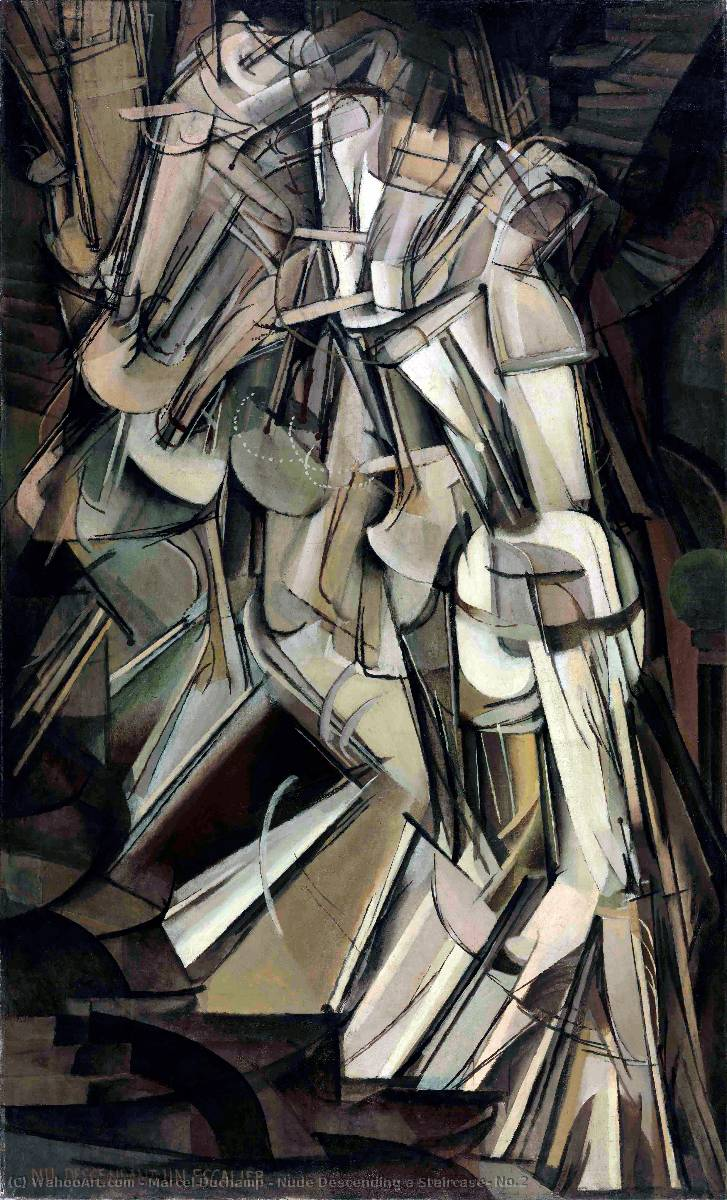 famous painting Nude Descending a Staircase, No.2 of Marcel Duchamp
