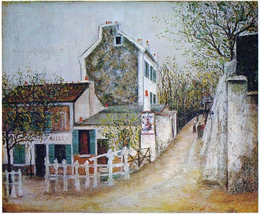 | Lapin Agile by Maurice Utrillo | Most-Famous-Paintings.com