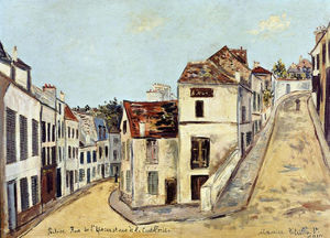 Maurice Utrillo - Pontoise, l'Eperon Street and Street de la Coutellerie