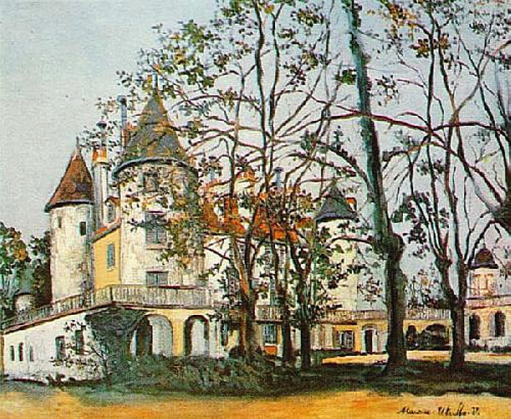 famous painting The castle of Maurice Utrillo