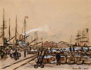 Maxime Emile Louis Maufra - Quayside in Le Havre