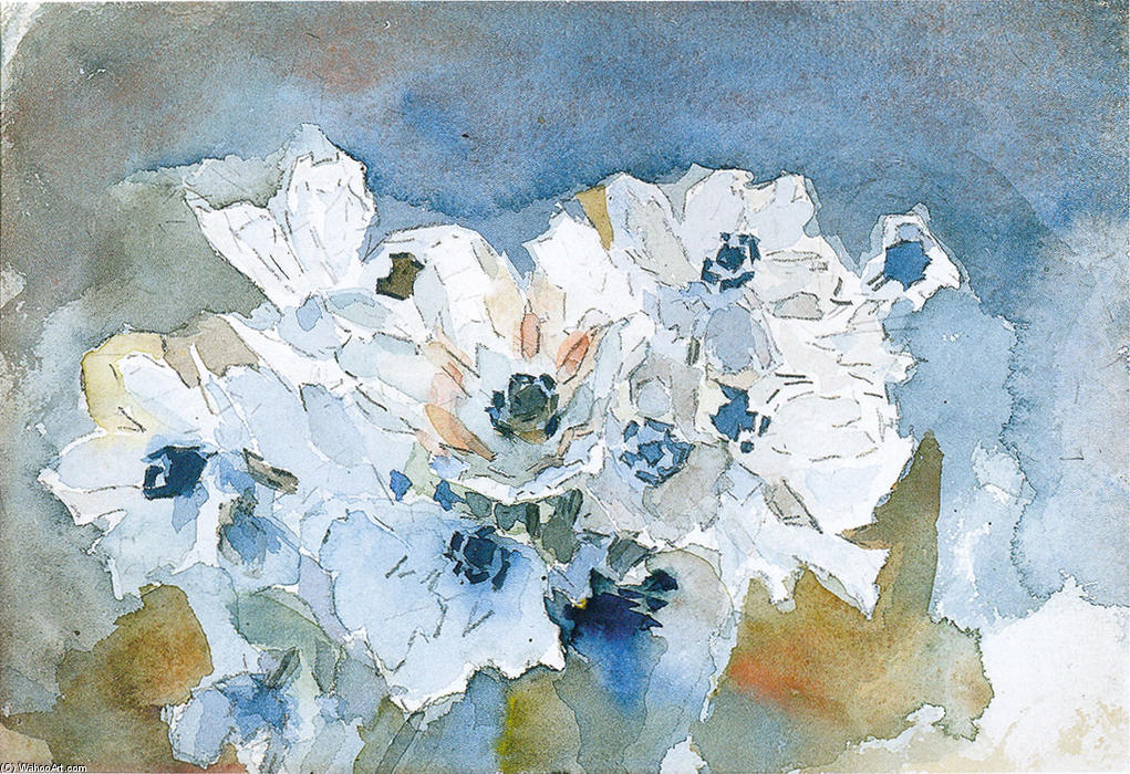 Order Paintings Reproductions | Flowers by Mikhail Vrubel | Most-Famous-Paintings.com