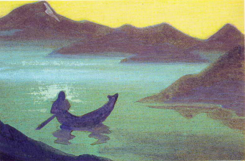 famous painting Messenger from Himalayas of Nicholas Roerich