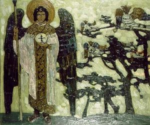 Nicholas Roerich - Archangel (Study to ''Treasures of angels'')