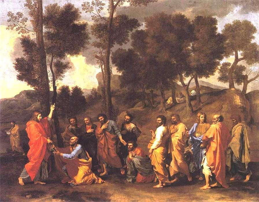 famous painting Ordination of Nicolas Poussin