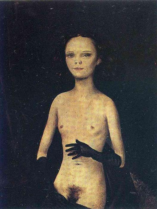 famous painting Nude Girl with Gloves of Otto Dix