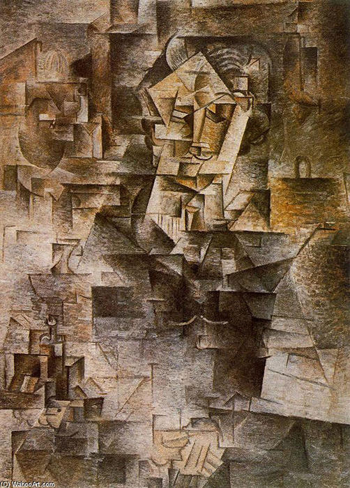 | Portrait of Daniel-Henry Kahnweiler by Pablo Picasso | Most-Famous-Paintings.com