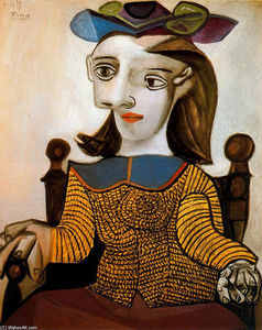 Pablo Picasso - The yellow shirt (Dora Maar)