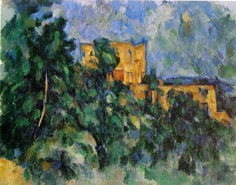 famous painting Chateau Noir of Paul Cezanne
