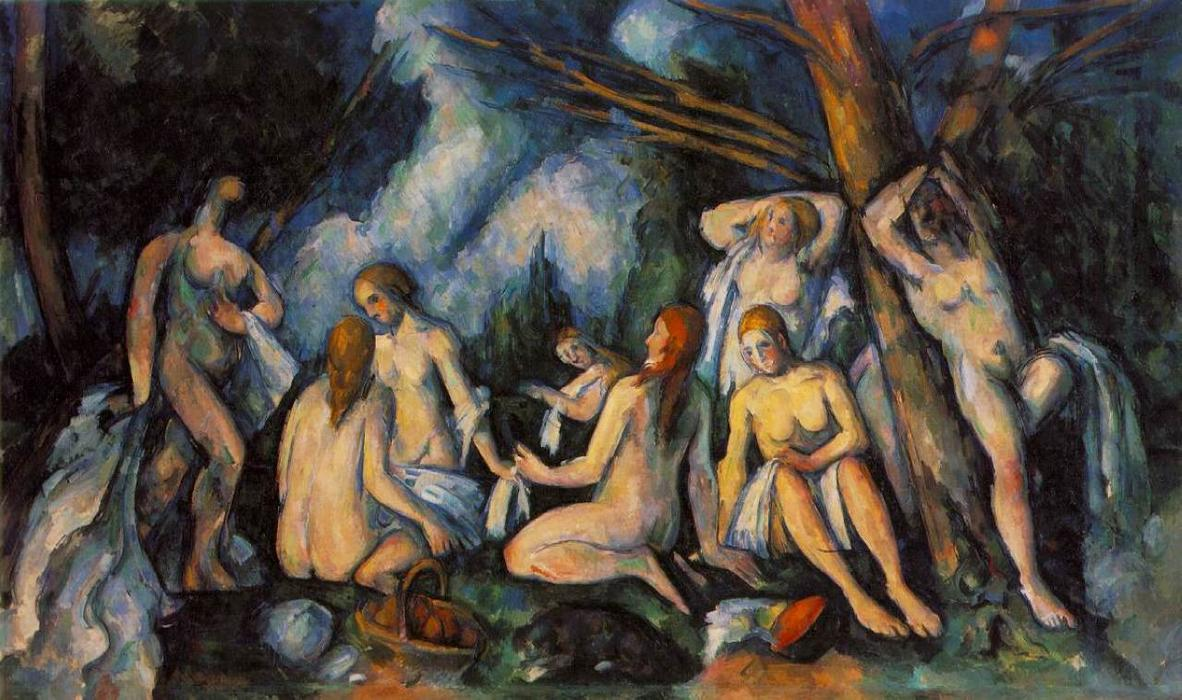 Buy Museum Art Reproductions | Large Bathers by Paul Cezanne | Most-Famous-Paintings.com