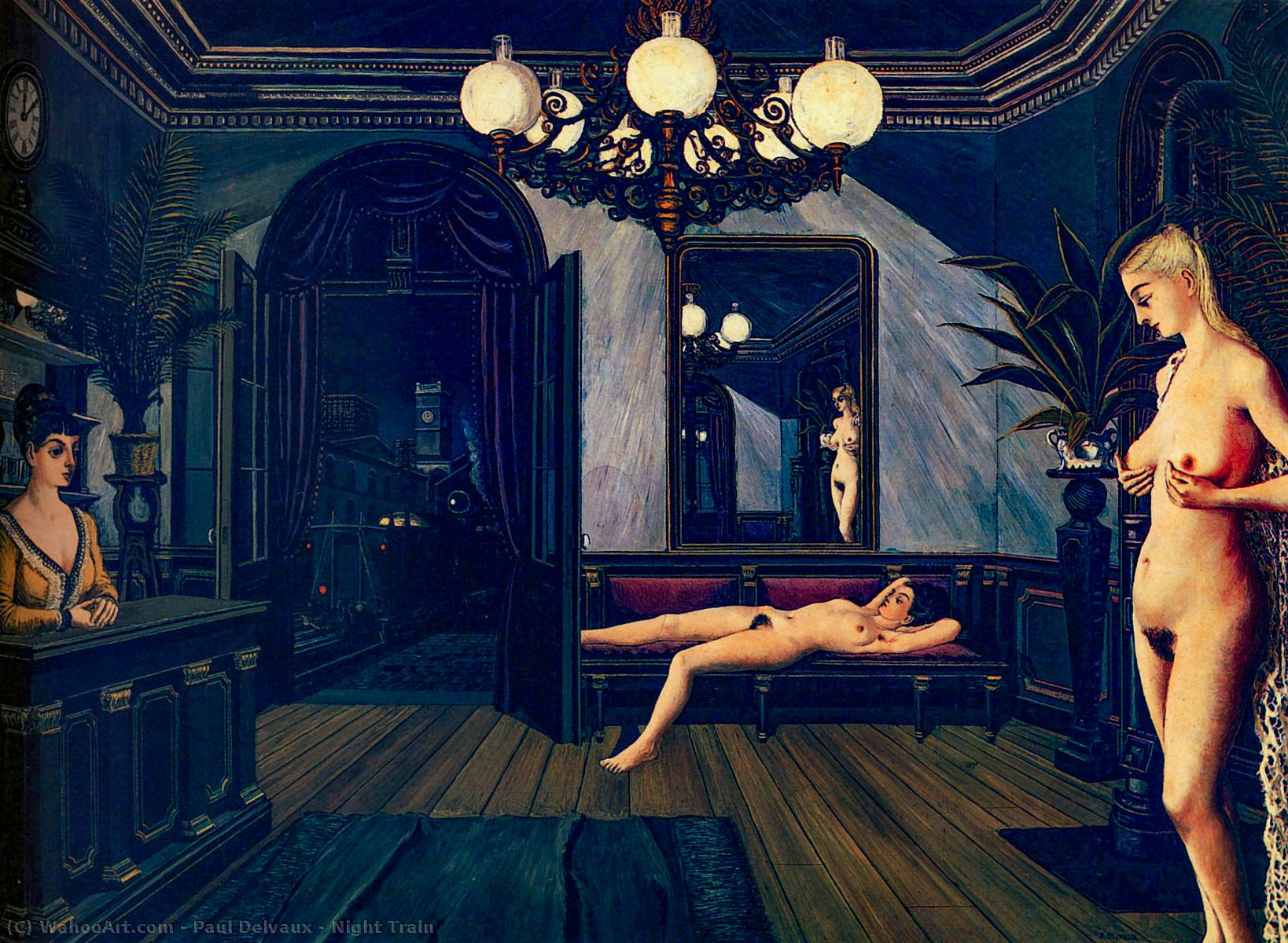 | Night Train by Paul Delvaux | Most-Famous-Paintings.com