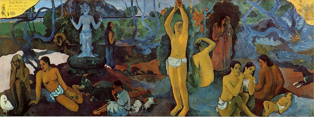 famous painting Where Do We Come From. What Are We. Where Are We Going. of Paul Gauguin