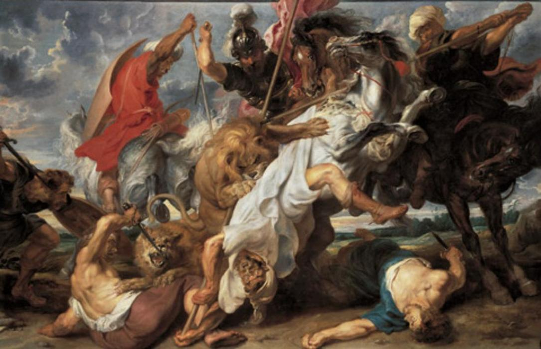 Order Museum Quality Copies | The Lion Hunt by Peter Paul Rubens | Most-Famous-Paintings.com